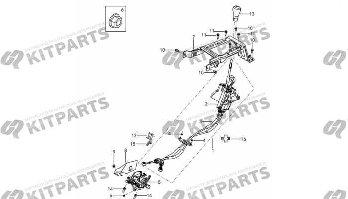 Механизм переключения передач МКПП Dong Feng AX7