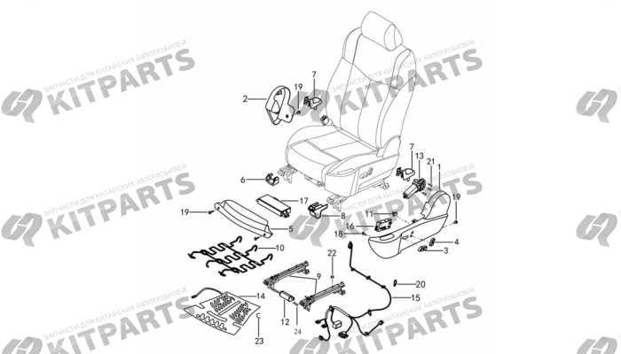 Сиденье водителя кожа с электроприводом - механизмы и ручки DongFeng AX7