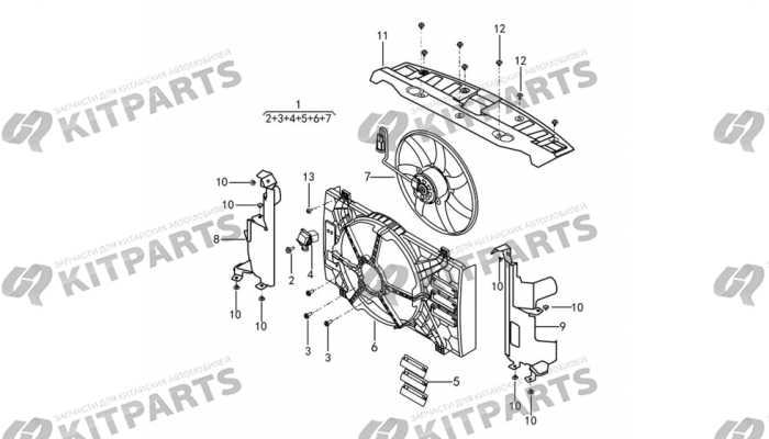 Вентилятор радиатора охлаждения двигателя Dong Feng AX7