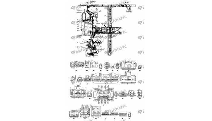 Жгут проводов приборной панели BYD F3 (F3R)