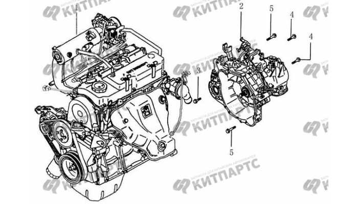 Двигатель и трансмиссия в сборе BYD F3 (F3R)