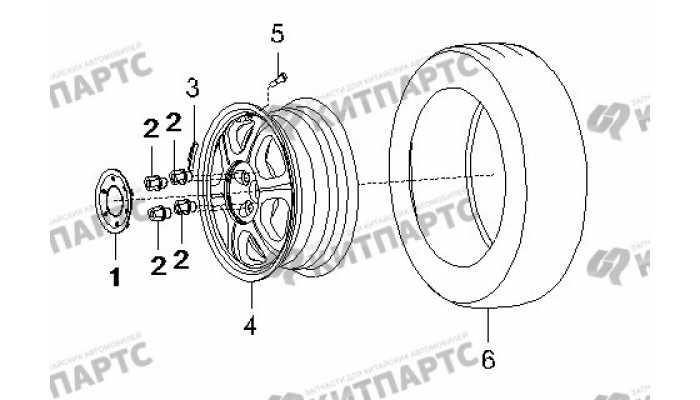 Колесо, литой диск BYD F3 (F3R)
