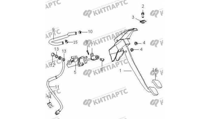 Педаль сцепления BYD F3 (F3R)