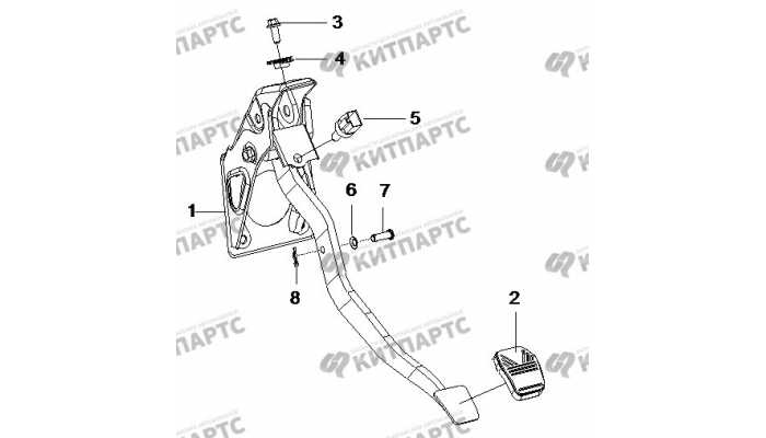 Педаль тормоза BYD F3 (F3R)