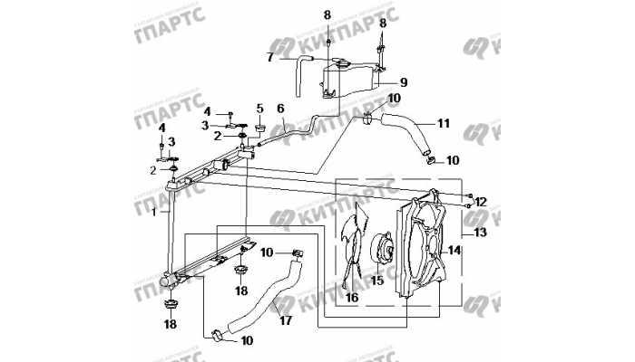 Радиатор охлаждения двигателя BYD F3 (F3R)