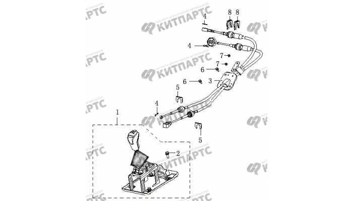Рычаг переключения передач BYD F3 (F3R)