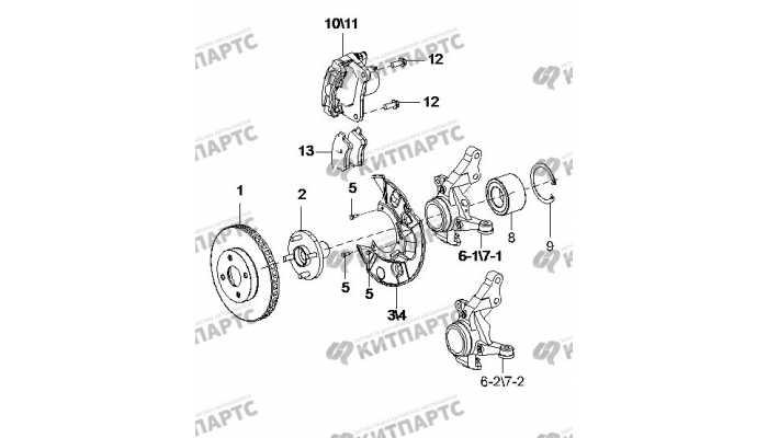 Тормоз передний BYD F3 (F3R)
