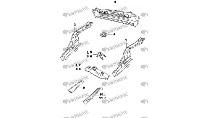 Панель задка Chery Amulet (A15)