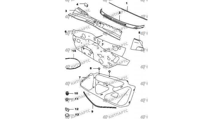 ЖАБО Утеплитель капота Chery Amulet (A15)