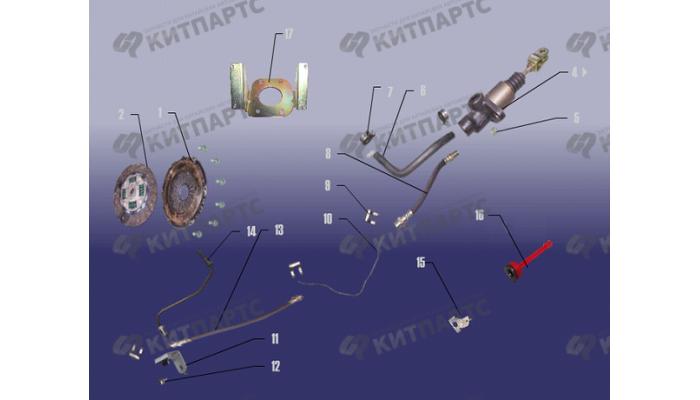 Механизм сцепления Chery Fora (A21)