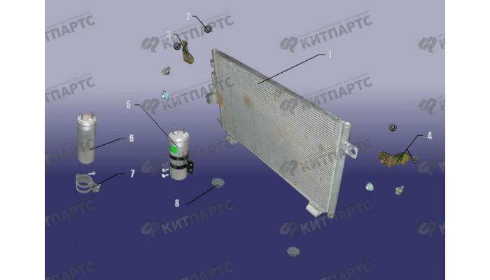Радиатор кондиционера Chery Tiggo (T11)