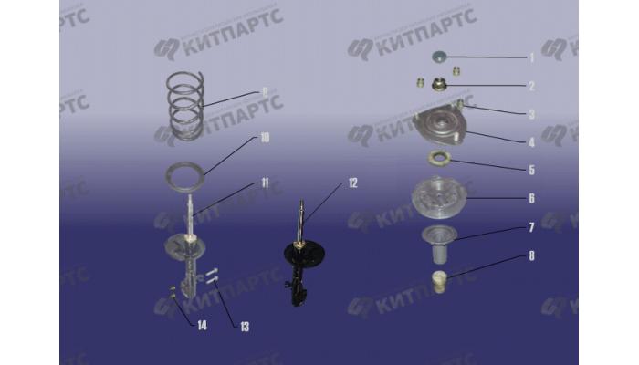 Стойка переднего амортизатора Chery Tiggo (T11)