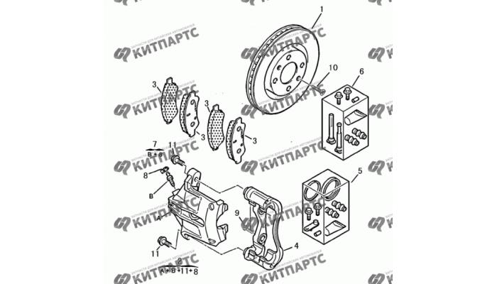 Тормозной механизм передний Dong Feng S30