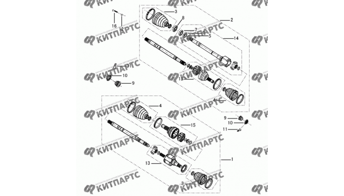 Привод колеса МКПП Dong Feng S30