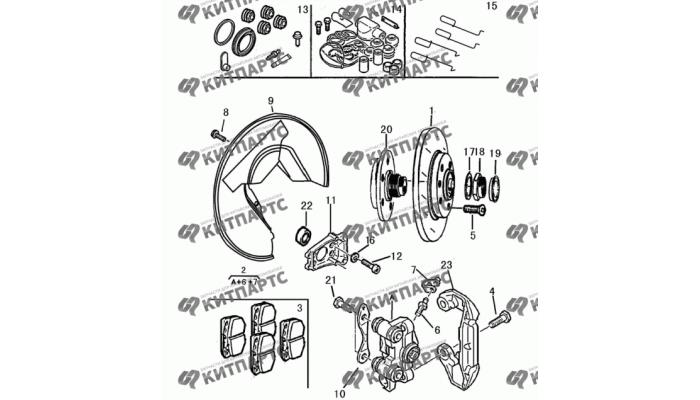 Тормозной механизм задний Dong Feng H30 Cross