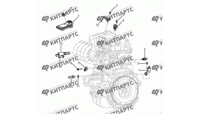 Электронные компоненты двигателя Dong Feng S30