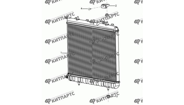 Радиатор Dong Feng S30