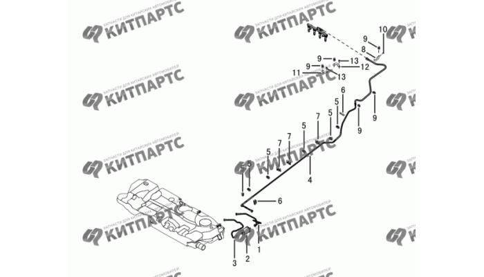 Топливные трубки и фильтр Dong Feng S30