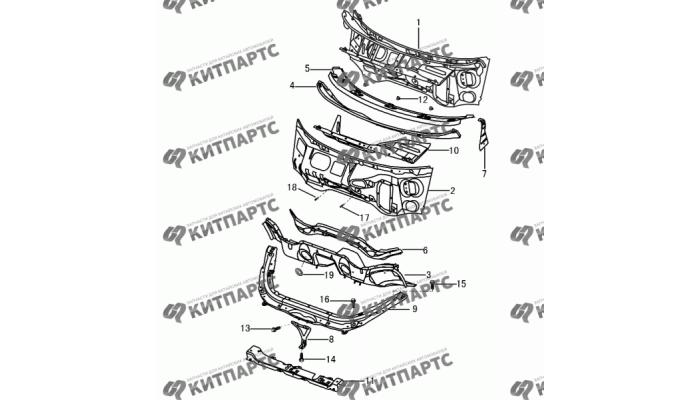 Панели кузова передние Dong Feng S30