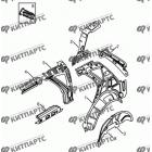 Стойки панели кузова задние