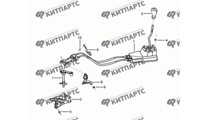 Механизм переключения КПП Dong Feng S30