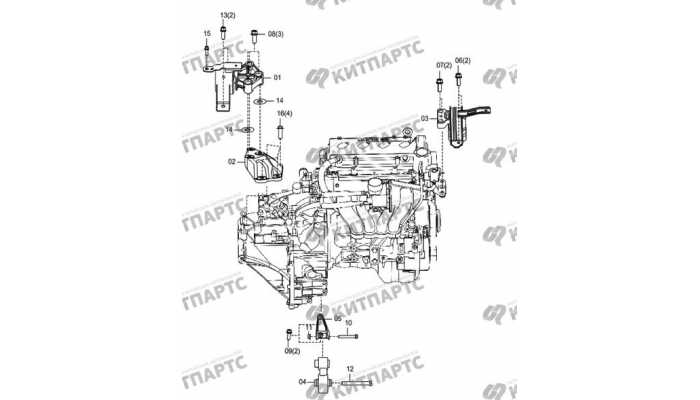 Подушки двигателя (АКПП) FAW Oley