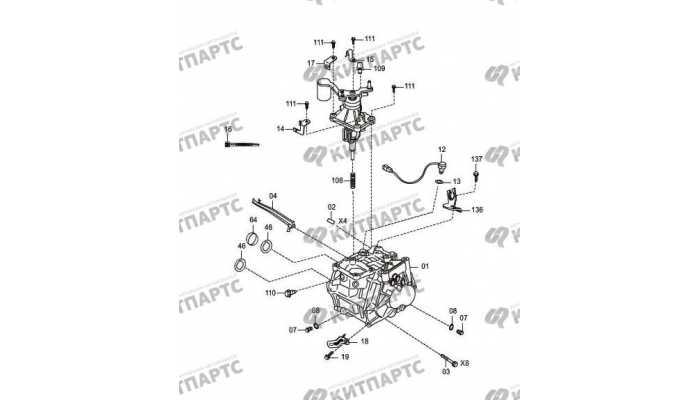 (MT) rear shell of transmission FAW Oley