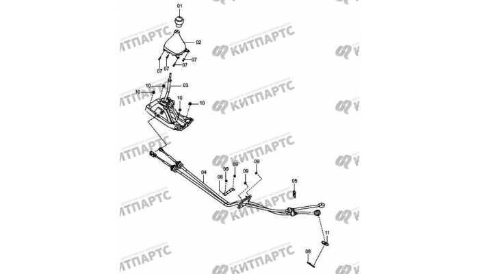 Рычаг переключения передач (МКПП) FAW Oley
