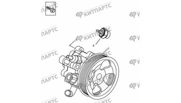 Насос ГУР (двигатель 4G20/4G24) Geely Emgrand EX7
