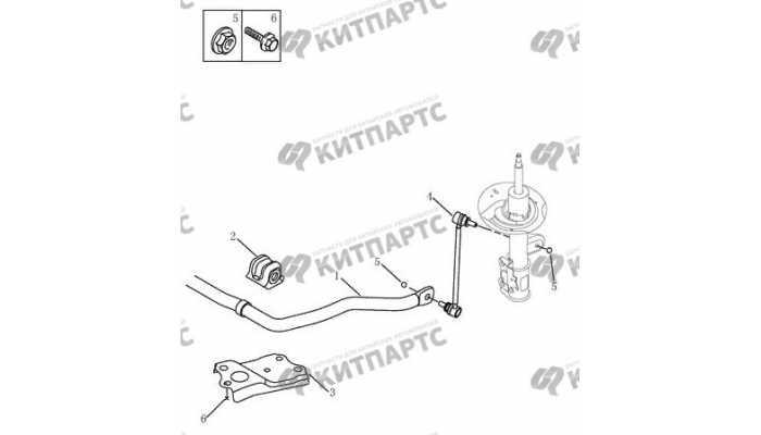 Стабилизатор передний Geely Emgrand EX7