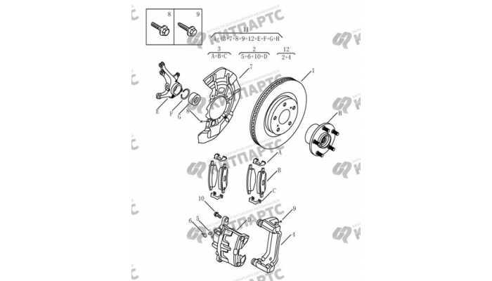 Тормоз передний Geely Emgrand EX7