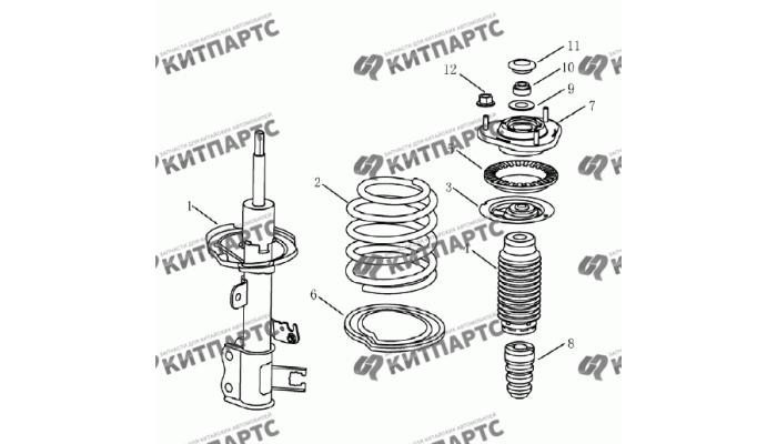 Амортизатор передний Geely Emgrand (EC7)