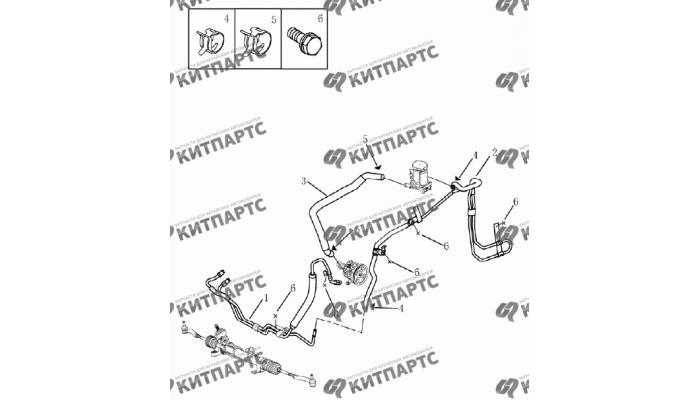 Трубки ГУР Geely Emgrand (EC7)
