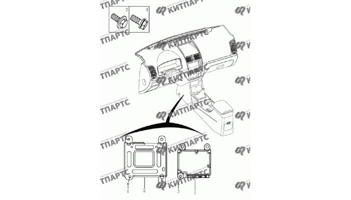 Блок управления подушками безопасности Geely Emgrand (EC7)