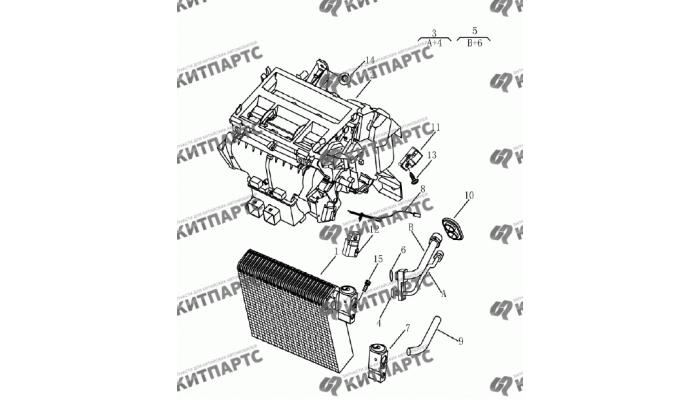 Радиатор кондиционера салонный Geely Emgrand (EC7)