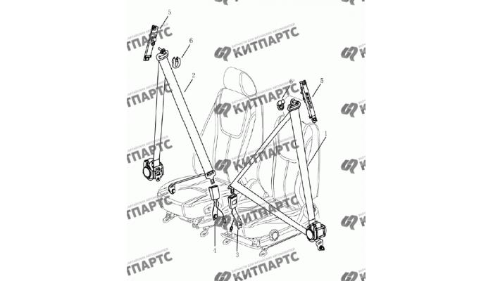 Ремни безопасности передние Geely Emgrand (EC7)