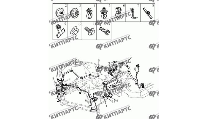 Жгут проводов моторного отсека (1.5L DVVT) Geely Emgrand (EC7)
