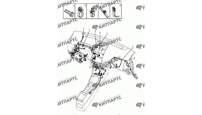 Жгут проводов панели приборов (1.5L DVVT) Geely Emgrand (EC7)