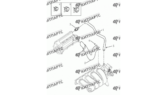 Вентиляция картер (1,8 L) Geely Emgrand (EC7)