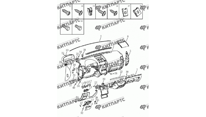 Приборная панель (GB/GS) Geely Emgrand (EC7)