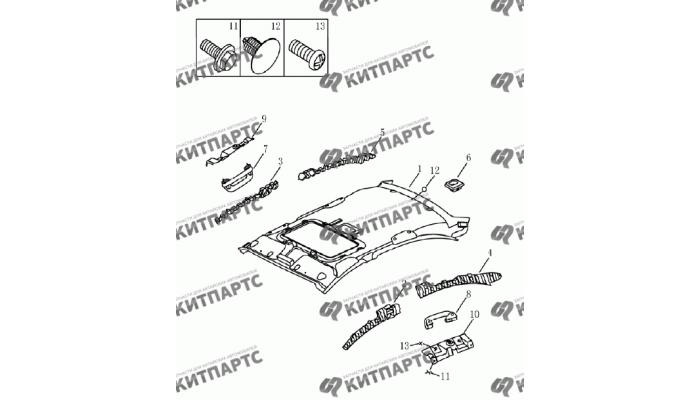 Обивка потолка с люком (седан) Geely Emgrand (EC7)