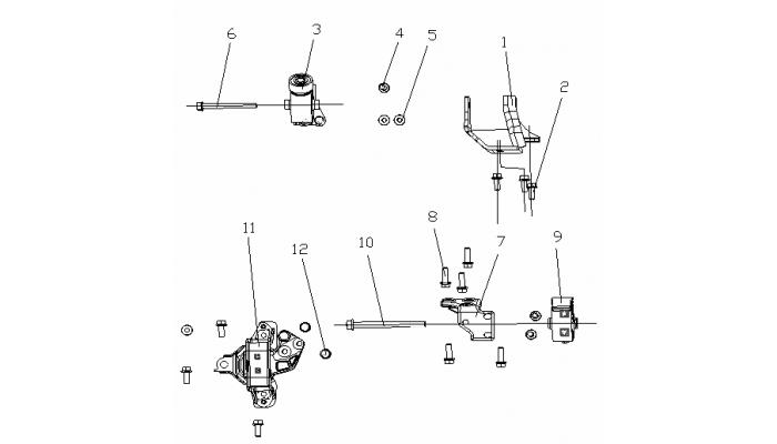 Подушки двигателя (MT) Geely MK