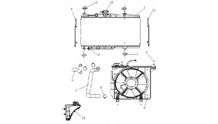 Система охлаждения (MT) Geely MK