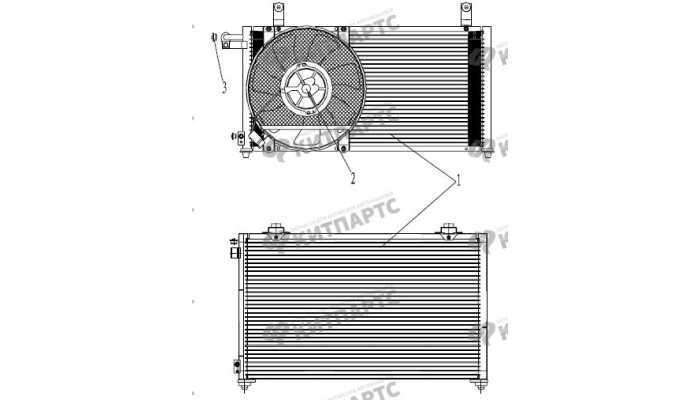 Радиатор кондиционера Geely Otaka (CK)