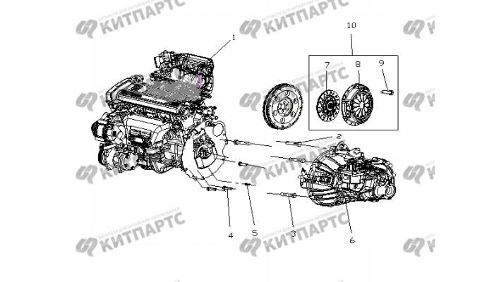 Двигатель MR481QA в сборе Geely Otaka (CK)