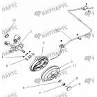 Тормоз задний правый (Барабанный, без ABS)